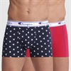 CHAMPION - BOXERS RED BLUE 2-PACK